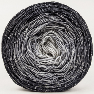 Knitcircus Yarns: Shades of Gray 100g Chromatic Gradient, Sparkle, ready to ship yarn
