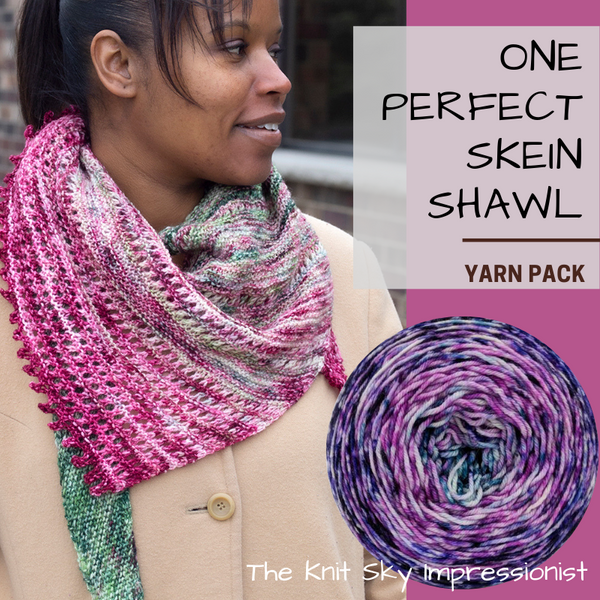 One Perfect Skein Shawl Yarn Pack, pattern not included, ready to ship