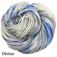 Knitcircus Yarns: Fishing in Quebec Speckled Handpaint Skeins, dyed to order yarn