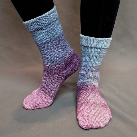 Mistress of Myself Panoramic Gradient Matching Socks Set (medium), Greatest of Ease, ready to ship