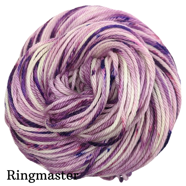 Knitcircus Yarns: Know Your Own Happiness Speckled Handpaint Skeins, dyed to order yarn