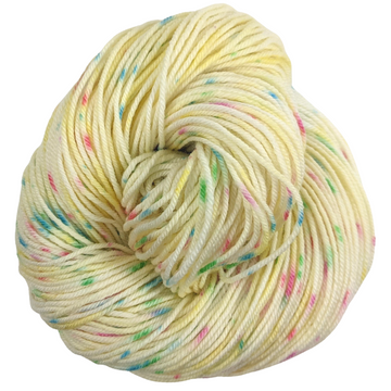 Knitcircus Yarns: Cindy Lou Who 100g Speckled Handpaint skein, Divine, ready to ship yarn
