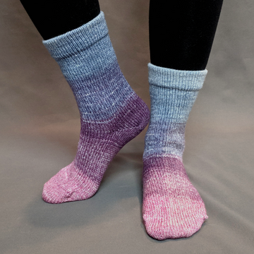 Knitcircus Yarns: Mistress of Myself Panoramic Gradient Matching Socks Set (large), Greatest of Ease, ready to ship yarn