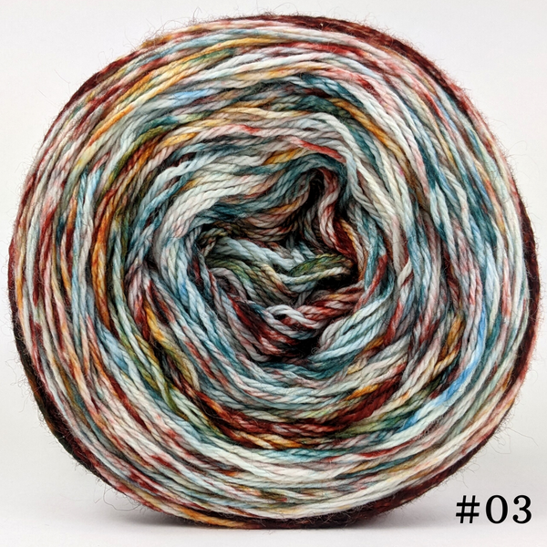 Knitcircus Yarns: Harvest Moon 100g Modernist, Opulence, choose your cake, ready to ship yarn