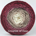 Knitcircus Yarns: Old Saint Nick Panoramic Gradient, dyed to order yarn
