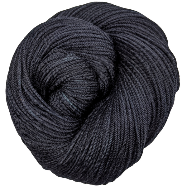 Knitcircus Yarns: Quoth the Raven 100g Kettle-Dyed Semi-Solid skein, Greatest of Ease, ready to ship yarn