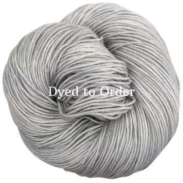 Knitcircus Yarns: Silver Lining Kettle-Dyed Semi-Solid skeins, dyed to order yarn