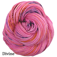 Knitcircus Yarns: Center of Attention Speckled Handpaint Skeins, dyed to order yarn