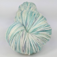 Knitcircus Yarns: Believe in Miracles 100g Speckled Handpaint skein, Flying Trapeze, ready to ship yarn