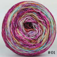Knitcircus Yarns: Backyard Bouquet 100g Modernist, Flying Trapeze, choose your cake, ready to ship yarn
