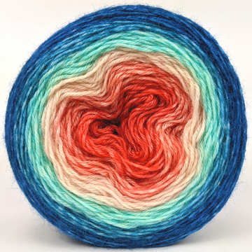 Knitcircus Yarns: Surfer Girl 100g Panoramic Gradient, Breathtaking BFL, ready to ship yarn