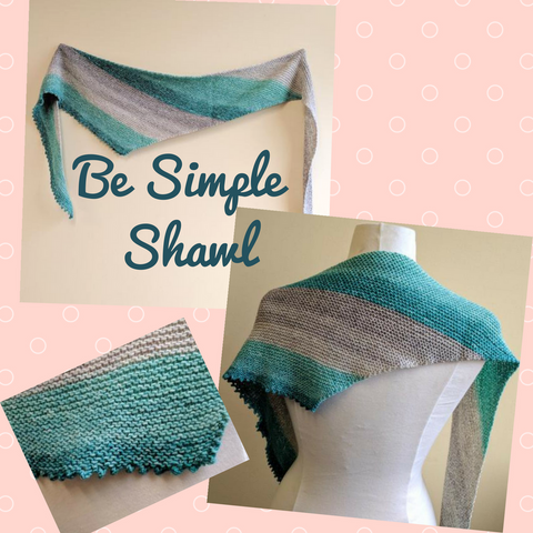Be Simple Shawl Kit, ready to ship