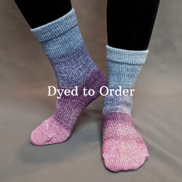 Knitcircus Yarns: Mistress of Myself Panoramic Gradient Matching Socks Set, dyed to order yarn
