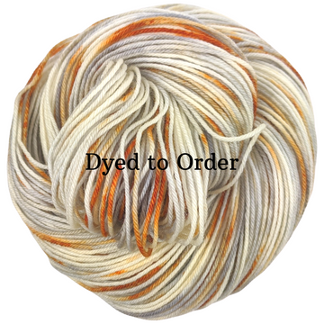 Knitcircus Yarns: Where There's Smoke Speckled Handpaint Skeins, dyed to order yarn