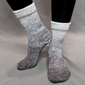 Knitcircus Yarns: Shades of Gray Chromatic Gradient Matching Socks Set (large), Greatest of Ease, ready to ship yarn