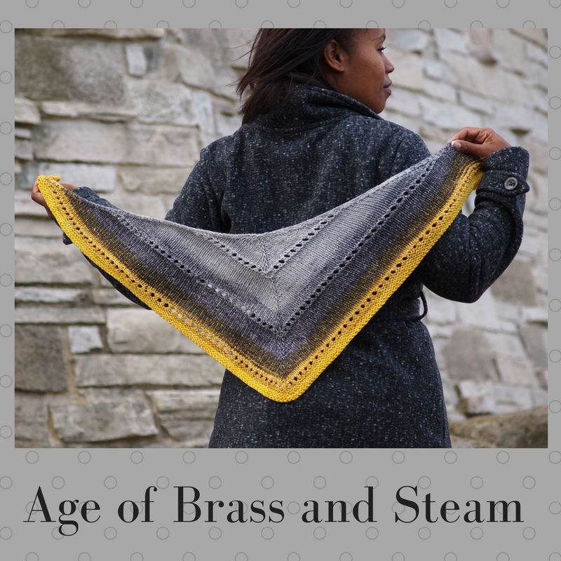 The Age of Brass and Steam Kerchief Yarn Pack, pattern not included, dyed to order