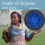 Angle of Repose Shawl Yarn Pack, pattern not included, dyed to order