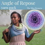 Angle of Repose Shawl Yarn Pack, pattern not included, ready to ship