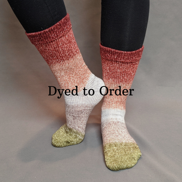 Knitcircus Yarns: Apple of My Pie Panoramic Gradient Matching Socks Set, dyed to order yarn