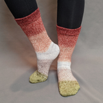 Knitcircus Yarns: Apple of My Pie Panoramic Gradient Matching Socks Set (medium), Greatest of Ease, ready to ship yarn