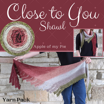 Close To You Shawl Yarn Pack, pattern not included, ready to ship