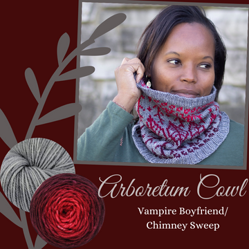 Arboretum Cowl Yarn Pack, pattern not included, ready to ship