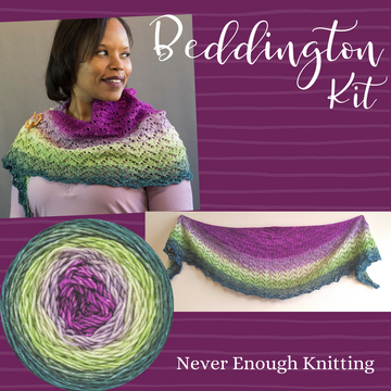 Beddington Shawl Kit, ready to ship