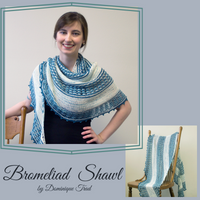 Bromeliad Shawl Yarn Pack, pattern not included, dyed to order