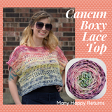 Cancun Boxy Lace Top Yarn Pack, pattern not included, dyed to order