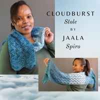 Cloudburst Stole Yarn Pack, pattern not included, dyed to order
