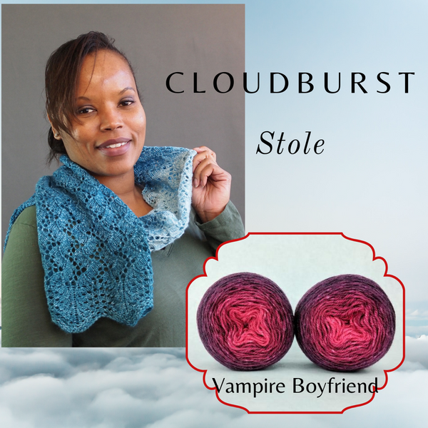 Cloudburst Stole Kit, dyed to order