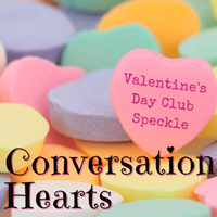 Valentine's Day Club 2021 - Conversation Hearts speckle - 1 Package