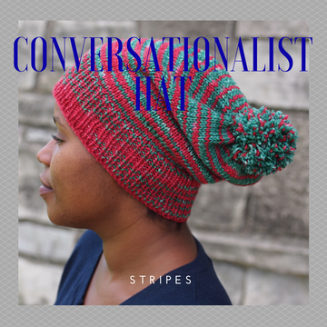 Conversationalist Hat Yarn Pack, pattern not included, Gradient Stripes, ready to ship