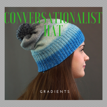 Conversationalist Hat Yarn Pack, pattern not included, Gradient, ready to ship