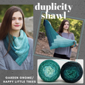 Duplicity Shawl Yarn Pack, pattern not included, dyed to order