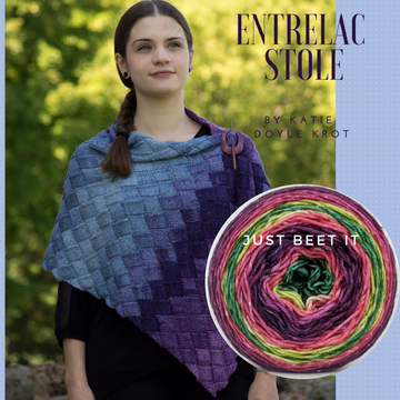 Entrelac Stole Yarn Pack, pattern not included, dyed to order