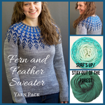Fern and Feather Sweater Yarn Pack by Jennifer Steingass, pattern not included, dyed to order