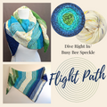 Flight Path Shawl Yarn Pack, two sizes, pattern not included, dyed to order