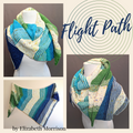 Flight Path Shawl Yarn Pack, two sizes, pattern not included, ready to ship
