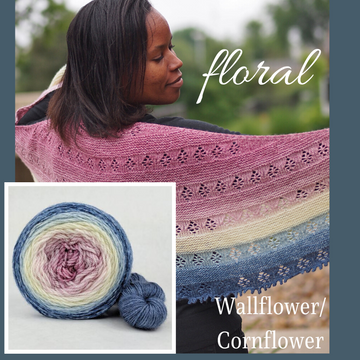 Floral Shawl Kit, dyed to order