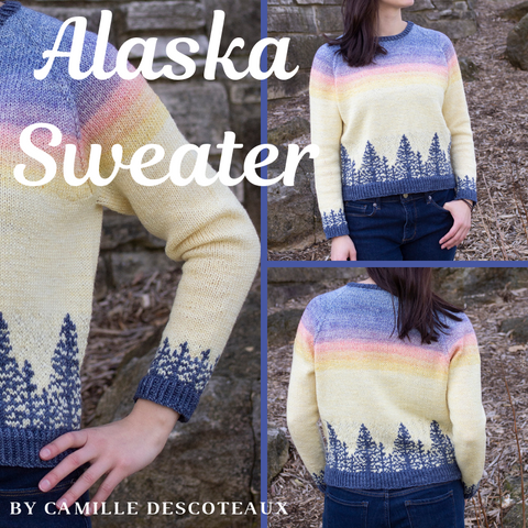 Alaska Sweater Yarn Pack, pattern not included, ready to ship