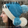 February Hat Yarn Pack, pattern not included, ready to ship