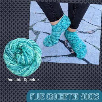 Flue Crocheted Socks Kit, dyed to order