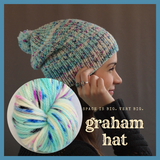 Graham Hat Yarn Pack, pattern not included, dyed to order