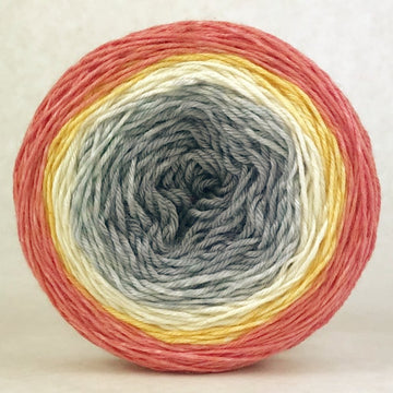 Knitcircus Yarns: Fight Like A Girl 100g Panoramic Gradient, Parasol, ready to ship yarn - SALE