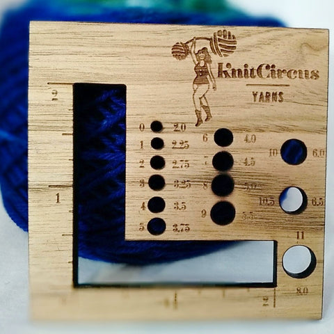 Knitcircus Needle Gauge and Measure USA Made, ready to ship