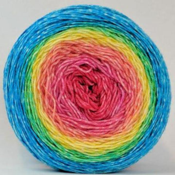 Knitcircus Yarns: Cindy Lou Who 100g Panoramic Gradient, Greatest of Ease, ready to ship yarn