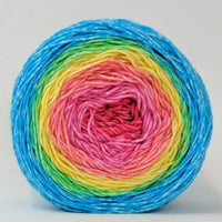 Knitcircus Yarns: Cindy Lou Who 150g Panoramic Gradient, Greatest of Ease, ready to ship yarn