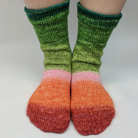 Anne With An E Panoramic Gradient Matching Socks Set, dyed to order