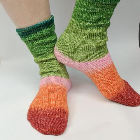 Anne With An E Panoramic Gradient Matching Socks Set (large), Greatest of Ease, ready to ship